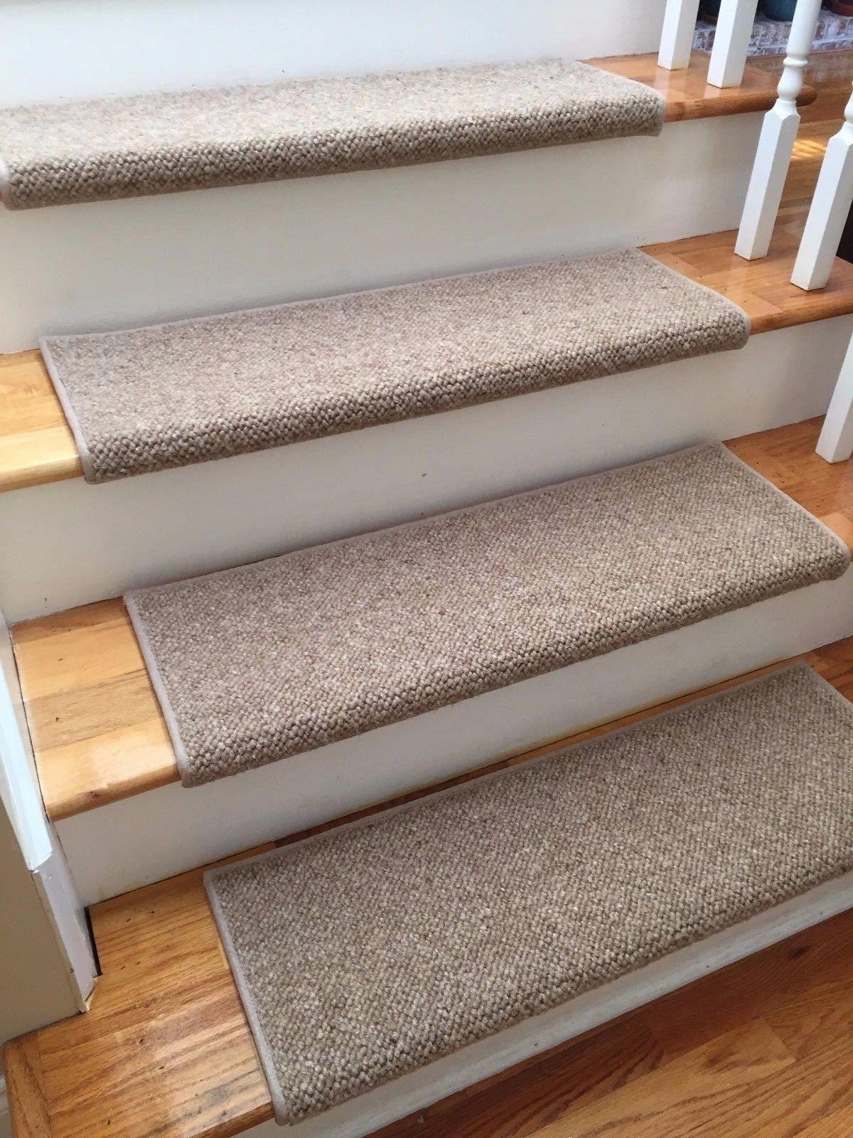 Alfa Dusk 100% Wool TRUE Bullnose™ Carpet Stair Tread JMish (Sold Per Step /Each)