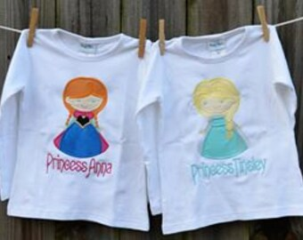 Personalized Ice Princess Applique Shirt or Bodysuit Girl