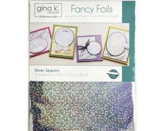 Therm O Web - Fancy Foils - 6 x 8 - Silver Sequins