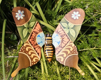 Butterfly Wooden Wall Plaque Home Decor