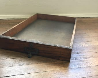 Reclaimed storage drawer tray