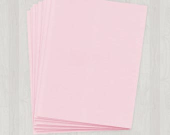 50 Sheets of Text Paper - Pink - DIY Invitations - Paper for Weddings & Other Events