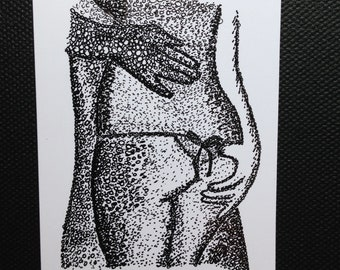 ACEO original pen and ink drawing