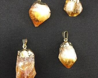Citrine crystal pendants-your choice for 19 each!