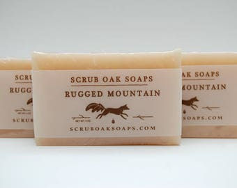 Handcrafted Rugged Mountain Scented Soap Bar