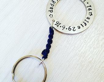 handstamped keyring, hand stamped key ring, stamped keyring, personalised keyring, personalized keyring,  mum, dad, mummy, daddy