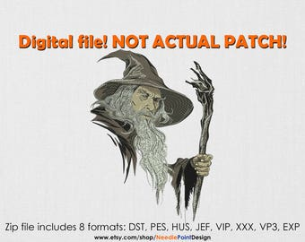 INSTANT DOWNLOAD - Wizard machine embroidery design. Movie embroidery design. Embroidery file