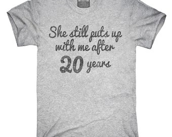 Funny 20th Anniversary T-Shirt, Hoodie, Tank Top, Gifts