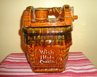 Mid Century Wish I had a Cookie Vintage McCoy Pottery Wishing Well Cookie Jar