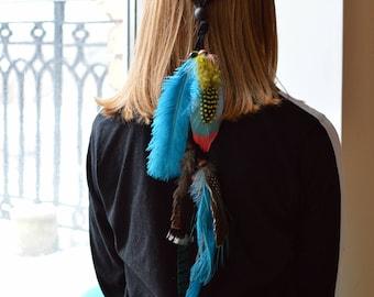 Festival feather headband, Boho chic hair accessories, Gypsy, Festival jewelry, Head piece, Headdress / Hair accessories, Hair festival wear