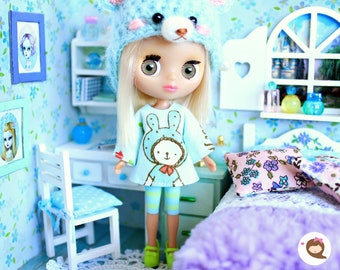 Diorama 1/12 for your playscale dolls: Petite Blythe, LPS Blythe, Mini Dal - Roombox Dollhouse
