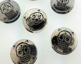 Sugar skull slider for leather