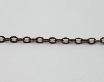 Antique Copper, 4mm x 3mm Classic Cable Chain CC173