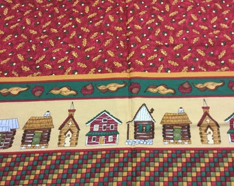 Moda Autumn Cabins Fabric - Last Yard!