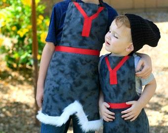 FROZEN KRISTOFF Disney inspired Costume Apron. Fits size 12 months - Boys 8 Child Birthday  sc 1 st  Etsy & OLAF FROZEN Disney inspired Child Costume Apron. Boys Girls