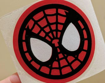 Personalized glossy Vinyl Decal, Spiderman