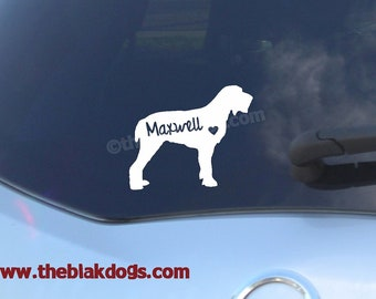 Italian Spinone Silhouette Vinyl Sticker - personalized Car Decal