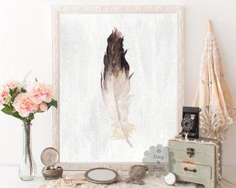 Feather - Art Print, teen wall art, teen art, home decor, kids room, children wall art, feather art, feather print, teen room poster, gift