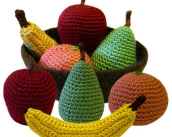 Play Fruit Set - PDF Crochet Pattern - Instant Download