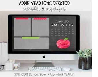 Apple Desktop Organizer | Instant Download, Organization Tool, Desktop Organizer, Desktop Wallpaper, Apple, Classroom Decor, Wallpaper