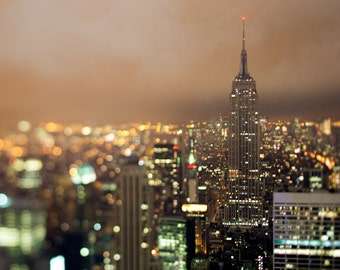 Empire State Building at Earth Hour, New York City - Digital Download
