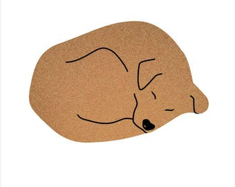 Dog Pin Board Cork Board Organizer