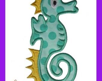 Seahorse applique design