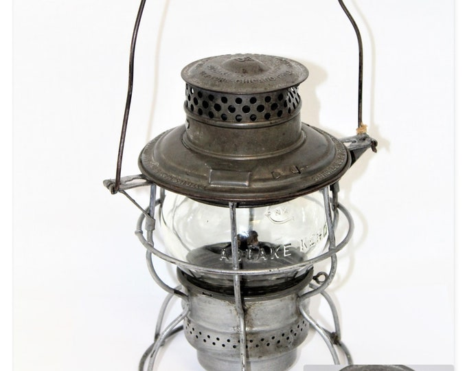 1923 Union Pacific Railroad Adams & Westlake Adlake No. 250 short-globe Lantern