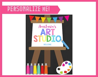 Art Studio Sign - INSTANT DOWNLOAD