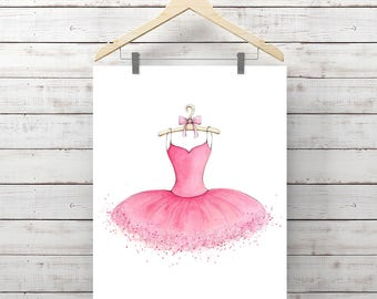 Tutu Watercolor Print - Ballerina Tutu Painting - Original Watercolor Art by Angela Weber