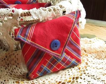 Small Thank You Gift for Friend, Teacher or Hostess, Volunteer Appreciation, Car deodorizer, Vintage Handkerchief Sachet,  Sach49