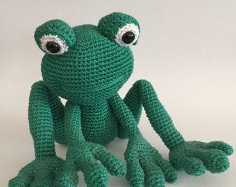 Crochet frog, Amigurumi frog, Crochet animal, Crochet toy, Frog, Stuffed toy, Stuffed animal, Crochet amigurumi