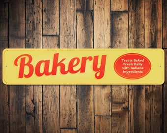 Bakery Sign, Custom Bakery Decor, Bakery Gift, Baker Gift, Baker Kitchen Sign, Baking Lover Gift, Baker Sign - Quality Aluminum ENS100016