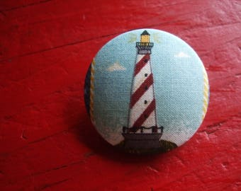 Colorful Lighthouse cotton button * 4 cm * new