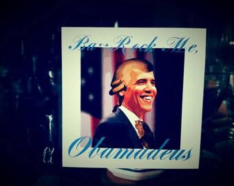 "Ba-Rock Me, Obamadeus Barack Obama 2.75"" x 2.75"" Vinyl Sticker"