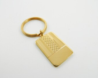 Vintage Gold Geometric Keychain