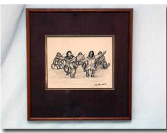 Original Pencil Sketch - Alaskan Artist Robert Mayokuk
