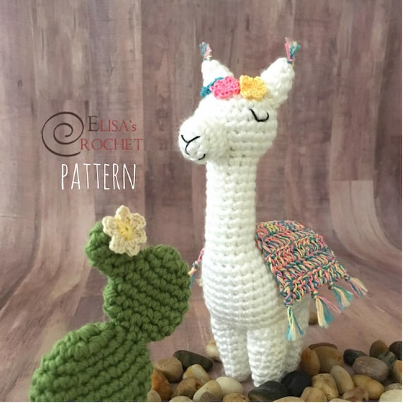 Crochet Pattern Violet The Alpaca Amigurumi Doll Stuffed Doll