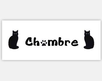 Black cats parents bedroom sign, black cats sign, masters suit sign,parents gift ,mothers Day Gift,new home gift,free colors personalization