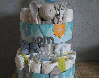 """My Knight Castle"" diaper cake"