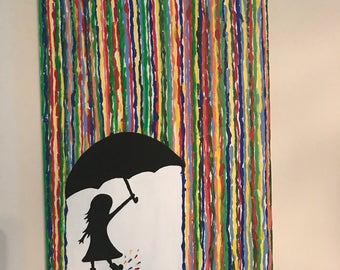 Umbrella Girl Painting