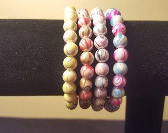 Beaded Bracelets - Spiral Round
