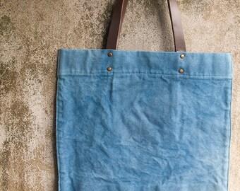 Indigo bag, Indigo dyed simple tote, Tote bag, Simple bag, Market bag, Square tote bag, Simple bag women, Simple tote bag