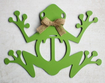 Door Hanger, Monogram Door Hanger, Wood Door Hanger, Frog Door Hanger, Frog, Monogram, Summer Door Hanger, Poolside, Patio, Summer, Painted