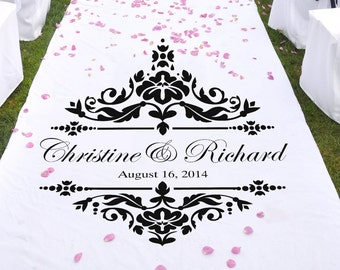 """Damask Wedding Stencil for aisle runners WW928 31"""" wide X 31"""" tall"""