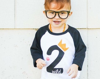 Wild Second Birthday Shirt - Wild 2 Shirt - Hipster Boys Birthday Shirt - Wild Things Birthday Outfit