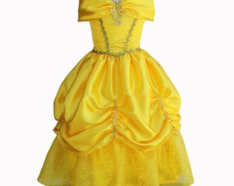 Belle dress beauty and the beast inspired dress