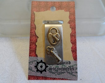 Lock and Key Money Clip