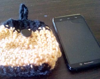 Yellow Cell Phone Holder- Black and Yellow Cell Case
