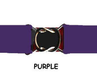 "STRETCH BELT - PURPLE 1"" Elastic * 3-Sizes for Kids & Adults *  Adjustable on Both Sides"